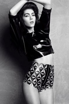 Geo hand painted latex shorts by Joy Williams Design