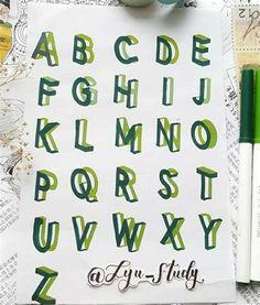 Bullet Journal Banner, Bullet Journal Lettering Ideas, Bullet Journal Notes, Bullet Journal Writing, Bullet Journal School, Bullet Journal Ideas Pages, Bullet Journal Inspiration, Book Journal, Hand Lettering Tutorial