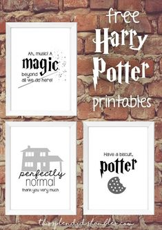 Harry Potter Week | 3 Free Printables. Harry Potter Free download on This Splendid Shambles