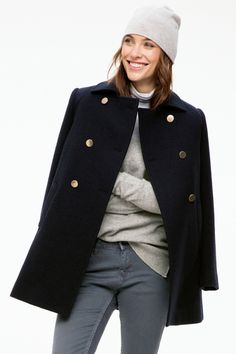 I just bought this beautiful navy wool coat, and I can't wait for autumn and winter!