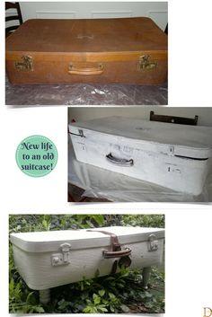 DIY Give new life to you old #suitcase! #doridesign #reuse #recycle #art #creativity #design #diy