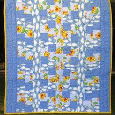 Little Ducks - a handmade baby quilt for boys