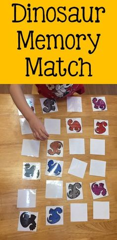 Dinosaur Memory Match Dinosaur Memory Match This activity is part of the Dinosaurs Theme Activity Pack for Preschool, Pre-K & Kindergarten This 125 page product includes several dinosaur themed literacy and math activities plus dramatic play materials! Dinosaur Classroom, Dinosaur Theme Preschool, Dinosaur Crafts, Preschool Themes, Dinosaur Dinosaur, Preschool Crafts, Math Activities For Toddlers, Eyfs Activities, Vocabulary Activities