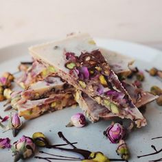 Pistachio & Rose Chocolate Bark Chocolate Bark, Homemade Chocolate, Runner Beans, Light Pink Rose, Vegan Desserts, Pistachio, Dairy Free, Paleo, Sweets