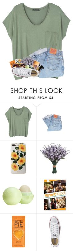 """""""It doesn't seem fair that some people have so much and some people have so little.."""" by sewing-girl ❤ liked on Polyvore featuring MANGO, Levi's, Sonix, Eos and Converse"""