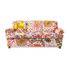how much fun is this? wow, I WANT IT!!! :) (it would really be quite lovely with tan walls and a sage green carpet to calm it down a bit?)   josef frank sofa