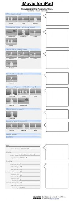 Storyboard template language examples and stop motion for Trailer templates for imovie
