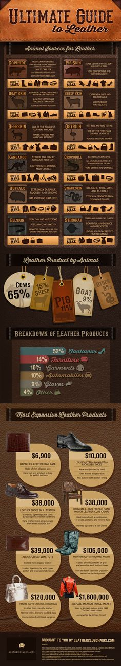 didn't realize there was more to leather than just cowhide...pretty interesting infographic