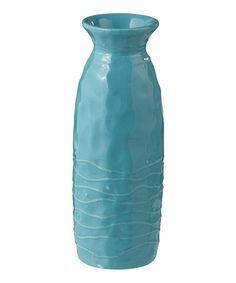 Look what I found on #zulily! Ocean Blue Vase by Grasslands Road #zulilyfinds