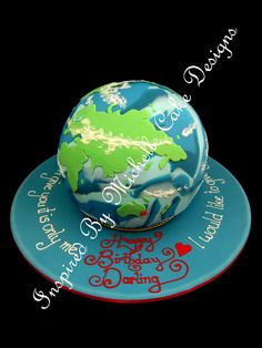globe cake love this one Globe Cake, Earth Cake, Baking Party, My Crazy, Travel Themes, Party Themes, Party Ideas, Let Them Eat Cake, Birthday