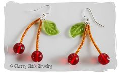 Cherry Chick Cherry Earrings by Cherry Chick on Etsy, $15.00