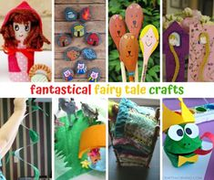 Fantastical fairy tale crafts Fairy Tale Crafts, Fairy Tales For Kids, Storytelling, Arts And Crafts, Books, Character, Children's Fairy Tales, Libros, Gift Crafts