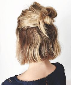 Who says you can't do a top knot with a bob?