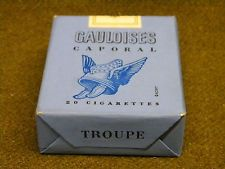 Paquet Cigarette Troupe Gauloises 1947 Metro TAP PARA french tobacco full pack