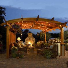The Outdoor GreatRoom Company Sonoma 12' W x 12' D Pergola. Includes anchor system. Douglas fir. Redwood stain finish. Offers privacy, along with wind and sun protection Made in U.S.A Overall: 9.33' H x 15.42' W x 15.42' D Please allow 1-2 weeks for delivery.