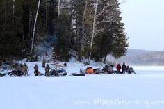 Snowmobiling on Glazier Lake