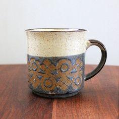 etsy find // vintage - stoneware mug. secondhand stoneware mugs are my weakness.