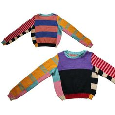 70s BETSEY JOHNSON ALLEYCAT psychedelic 70s wool striped sweater - vintage iconic color blocked jumper - 1970s cropped sweater  https://www.etsy.com/listing/195668734/70s-betsey-johnson-alleycat-psychedelic?ref=shop_home_active_9