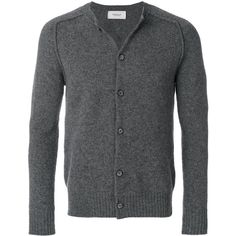 Pringle Of Scotland saddle shoulder cardigan (1.135 BRL) ❤ liked on Polyvore featuring men's fashion, men's clothing, men's sweaters, grey, mens cardigan sweaters, mens grey cardigan sweater, mens gray sweater and mens grey sweater