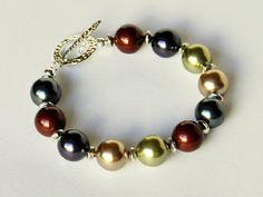 Pulsera de perlas multicolor hecho a mano por beaddesignsbyk