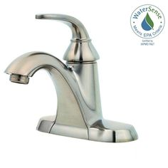 Bathroom faucet: Pfister Pasadena 4 in. Single-Handle High-Arc Bathroom Faucet in Brushed at The Home Depot