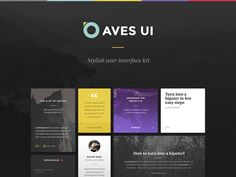 Aves UI Kit by Erigon