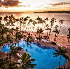 Sunset in Fiji. Shangri-La Fijian Resort & Spa, on private Yanuca Island, Fiji. Photo by danielpeckham via Instagram #amitrips #travel #fiji #sunset #placestovisit