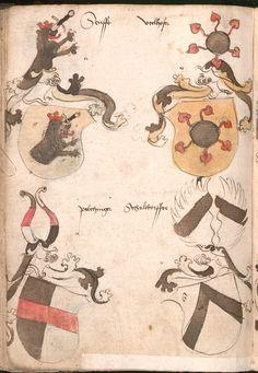 Wernigeroder (Schaffhausensches) Wappenbuch Süddeutschland, 4. Viertel 15. Jh. Cod.icon. 308 n  Folio 205v