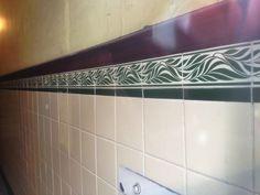 #Southside of #Glasgow.  #ThroTheWindae #tenement #tiles #wallyclose #pattern #interior #design #scotland #ceramic