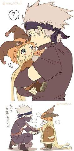 Kakashi & Naruto #kakashi #naruto