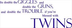 Always have loved this poem about twins since I first heard it 28 yrs ago.