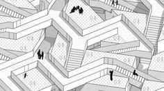 Diagramming // Mapping — Shinkenchiku International Residential Competition... Cube Storage, Competition, Louvre, Japan, Drawings, Illustration, Architecture Diagrams, Image, Design