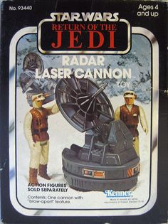 "The Radar Laser Cannon seen on the rebel base on Hoth, from Kenner's ""Star Wars"" toys"