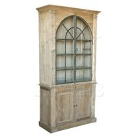 Iron Decorative Arched Bookcase In Pine-Click for Larger Picture
