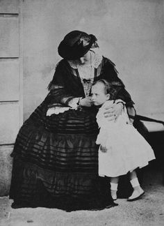 Queen Victoria and Princess Beatrice, Osborne, July 1859 [in Portraits of Royal Children