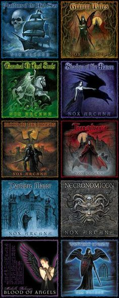 Nox Arcana albums...I own and recommend them all. They set the mood for Writing, Dreaming or Unforgettable Gatherings. ~ Lilith