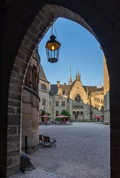 Schloss MarienburgPattensen (Niedersachsen-Lower Saxony) / looking through a passage / castle in Germany
