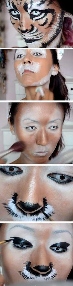 Altaïrka utilise ce tutoriel pour son maquillage de Tigerbauh! Étonnamment simple #facepainttutorial