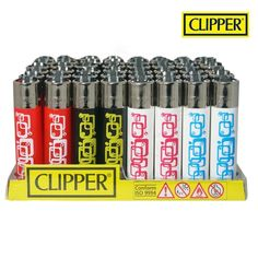 Boite de 48 briquets Clipper Rétro