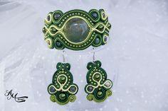 soutache bracelet and earrings by AMDesign