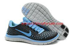 Nike Free 3.0 V4 Womens Carbon Black Glacier Blue Moon 511495 041