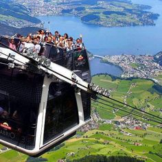 The world's first open-air double decker cable car system ~ Stanserhorn mountain, Switzerland..jpg