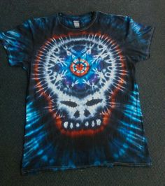 Black red blue steal your face tie dye t shirt. How To Tie Dye, Tie Dye T Shirts, Tye Dye, Red And Blue, Face, Mens Tops, Ideas, Women, Fashion