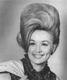 Dolly Parton.  WOW - and I thought 80s hair was BIG!!!