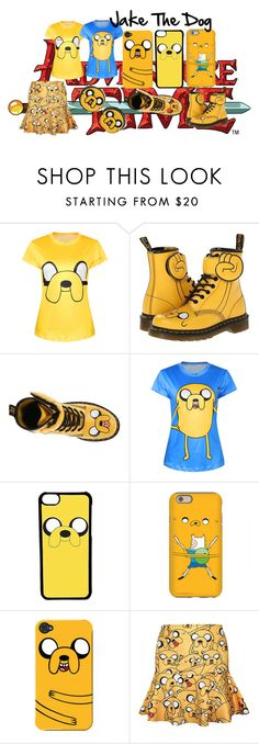 """Jake The Dog"" by isis-anubis5 ❤ liked on Polyvore featuring Dr. Martens, CellPowerCases and adventuretime"