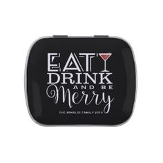 Eat, Drink and Be Merry! Jelly Belly Candy Tin