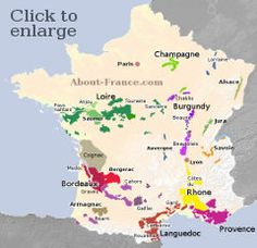 Detailed map of wine growing areas