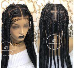 Big Box Braids, Box Braid Wig, Jumbo Box Braids, Box Braids Styling, Braids Wig, Box Braids Hairstyles, Cornrow Ponytail, Loose Braids, Black Girl Braids
