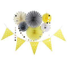 Decoration Jaune Gris Rosace Papier Guirlande Fanion pour... https://www.amazon.fr/dp/B0727W4S54/ref=cm_sw_r_pi_dp_x_.Z4fAb03N5MDB