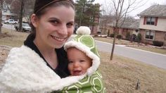 DIY Cozy Baby Sling/Carrier I love for chilly days!!!